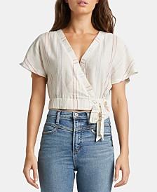 Silver Jeans Co. Shyla Striped Surplice Crop Top