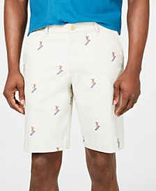 "Men's Hula Surfin' 10"" Stretch Embroidered Shorts"