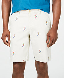 "Tommy Bahama Men's Hula Surfin' 10"" Stretch Embroidered Shorts"