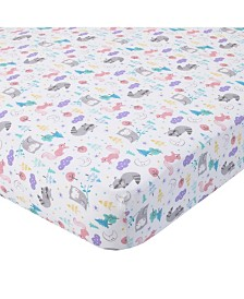 Carter's 100% Cotton Sateen Fitted Crib Sheet - Woodland