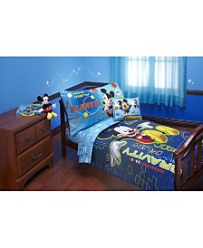Disney Mickey Mouse Zero Gravity 4 Piece Toddler Bed Set