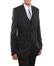 Tazio Windowpane 2 Button Solid Vested Suits for Boys