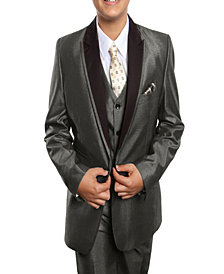 Tazio Peak Lapel Classic Fit 2 Button Vested Suits for Boys