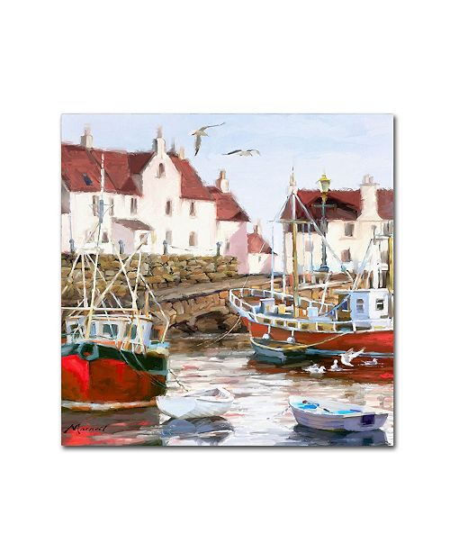"Trademark Global The Macneil Studio 'Gull Harbour Square' Canvas Art - 14"" x 14"" x 2"""