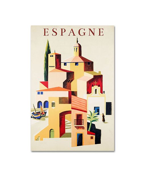 "Trademark Global Vintage Apple Collection 'Travel Espagne' Canvas Art - 19"" x 12"" x 2"""