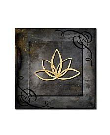 "lightbox Journal 'Grunge Gold Crown Lotus' Canvas Art - 18"" x 18"" x 2"""
