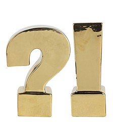 Urban Vogue, Question & Exclamation Mark Bookends, Set of 2