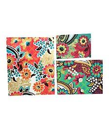Georgiana Notebook, Paisley Fleur, Set of 3