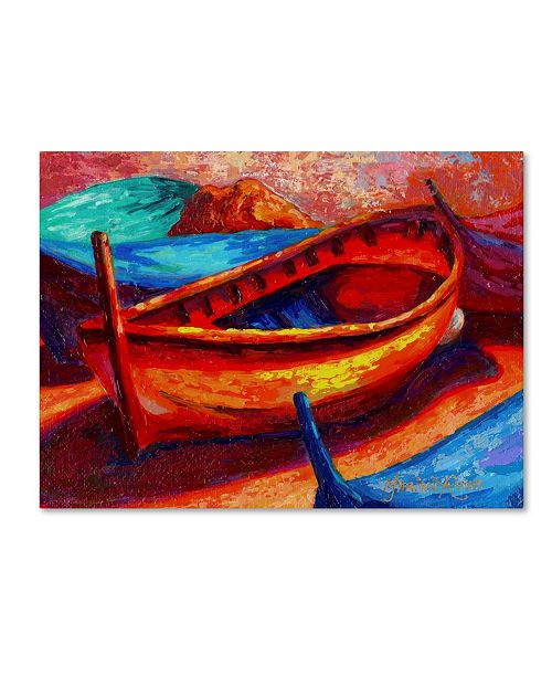 """Trademark Global Marion Rose 'Boat 10' Canvas Art - 32"""" x 24"""" x 2"""""""