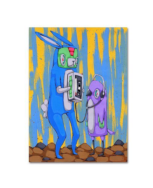 "Trademark Global Ric Stultz 'Happy To Share' Canvas Art - 19"" x 14"" x 2"""