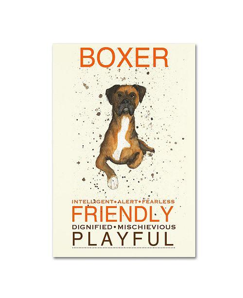 "Trademark Global Michelle Campbell 'Boxer Print' Canvas Art - 47"" x 30"" x 2"""