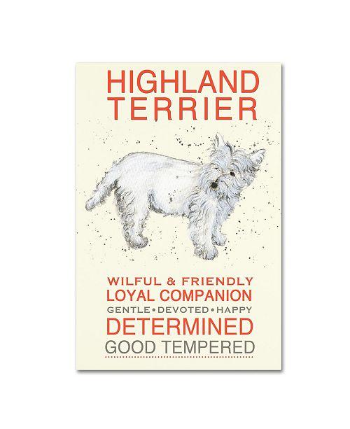"Trademark Global Michelle Campbell 'Highland Terrier' Canvas Art - 47"" x 30"" x 2"""