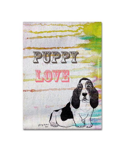 "Trademark Global Tammy Kushnir 'Puppy Love' Canvas Art - 24"" x 18"" x 2"""