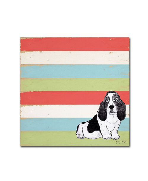 "Trademark Global Tammy Kushnir 'Basset Hound 3' Canvas Art - 18"" x 18"" x 2"""