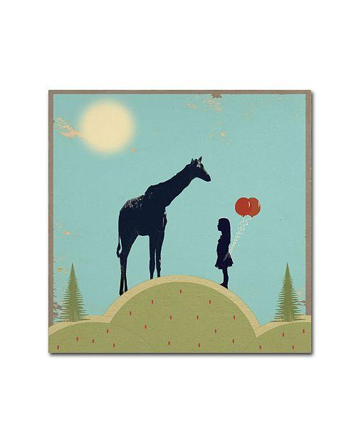 "Trademark Global Tammy Kushnir 'The Meeting' Canvas Art - 14"" x 14"" x 2"""