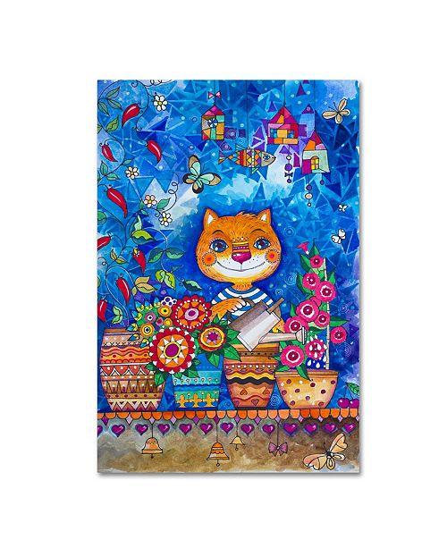 "Trademark Global Oxana Ziaka 'Garden' Canvas Art - 32"" x 22"" x 2"""