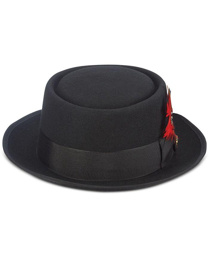 Scala - Men's Wool Pork Pie Hat