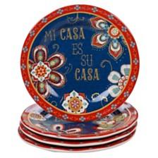 Certified International La Vida 4-Pc. Dessert Plate