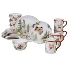 Certified International Mountain Retreat 16-Pc. Dinnerware Set