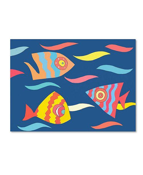 "Trademark Global Miguel Balbas 'Fish' Canvas Art - 47"" x 35"" x 2"""