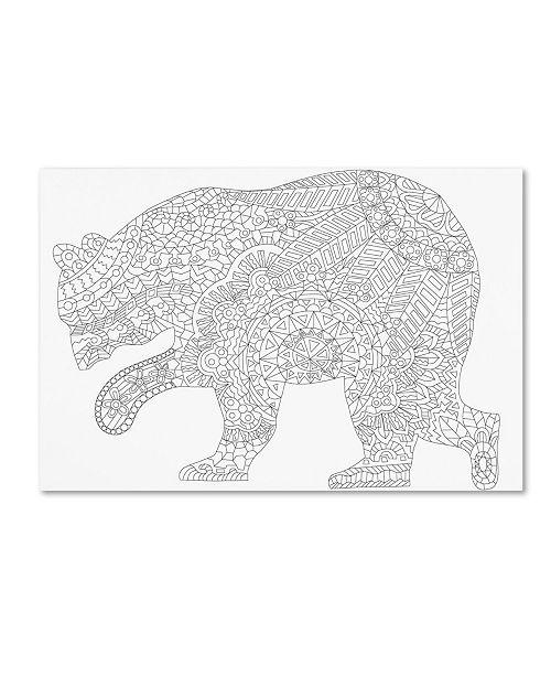 """Trademark Global Miguel Balbas 'Bear 2' Canvas Art - 19"""" x 12"""" x 2"""""""