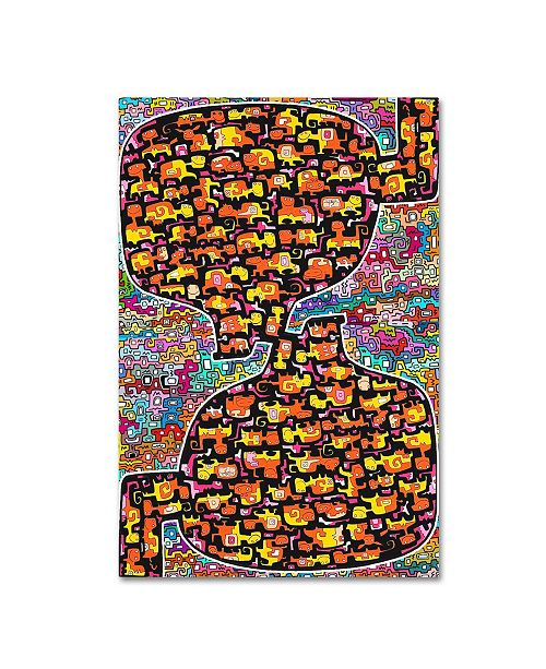 "Trademark Global Miguel Balbas 'Doggies World - North & South' Canvas Art - 47"" x 30"" x 2"""