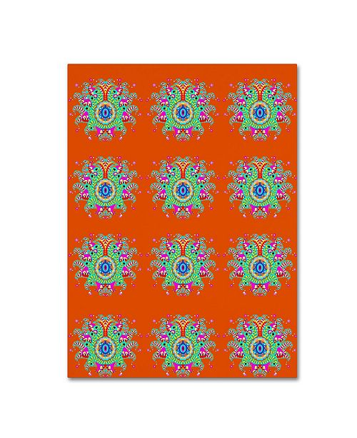 "Trademark Global Miguel Balbas 'Pattern Flowers' Canvas Art - 24"" x 18"" x 2"""
