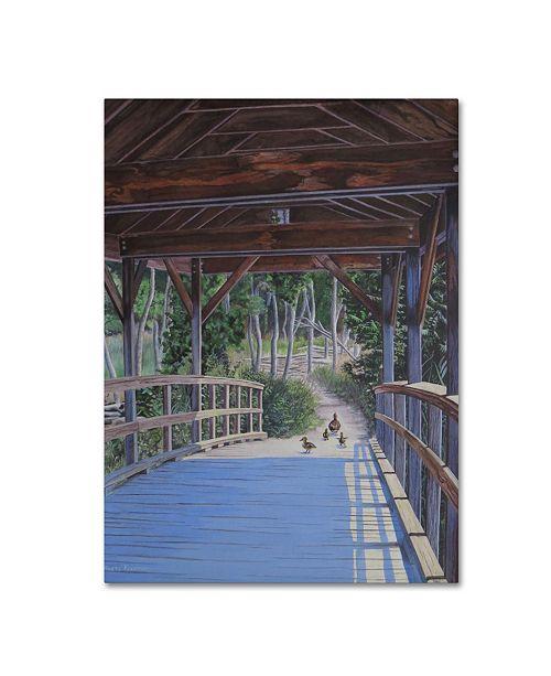 "Trademark Global Rusty Frentner 'Wood Covered Bridge' Canvas Art - 47"" x 35"" x 2"""