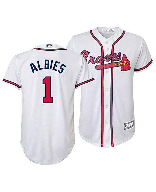 best service e5fce c65e2 Big Boys Ozzie Albies Atlanta Braves Player Replica Cool Base Jersey