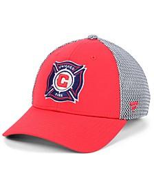 Authentic MLS Headwear Chicago Fire Versalux Speed Flex Stretch Fitted Cap