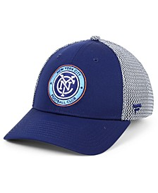 Authentic MLS Headwear New York City FC Versalux Speed Flex Stretch Fitted Cap