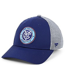 Authentic MLS Headwear New York City FC Versalux Speed Flex Stretch Fitted Cap