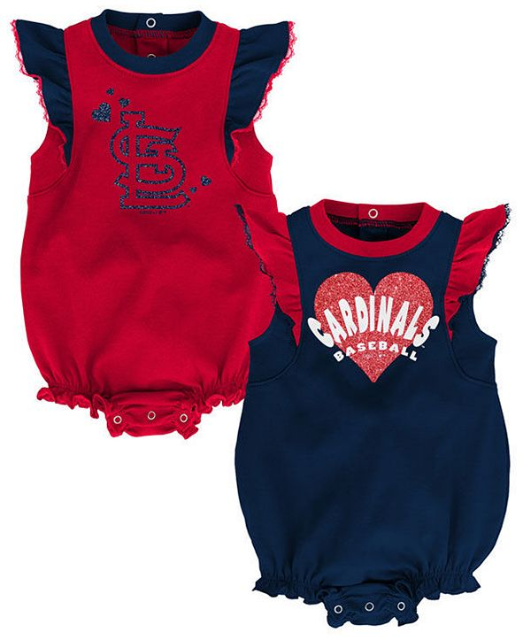 Outerstuff Baby St. Louis Cardinals Double Trouble Bodysuit Set