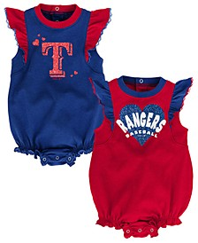 Baby Texas Rangers Double Trouble Bodysuit Set