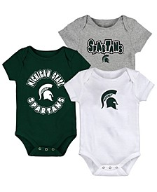 Baby Michigan State Spartans Everyday Fan 3 Piece Creeper Set