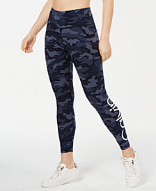 Calvin Klein Performance Camo Printed Logo High-Waist Ankle Leggings