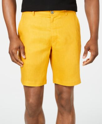 Men's Flat-Front Linen Shorts, Created for Macy's