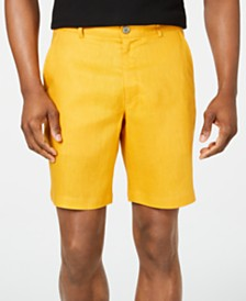 Tasso Elba Men's Flat-Front Linen Shorts, Created for Macy's