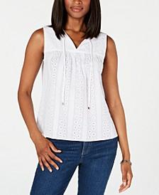 Eyelet Cotton Top, Created for Macy's