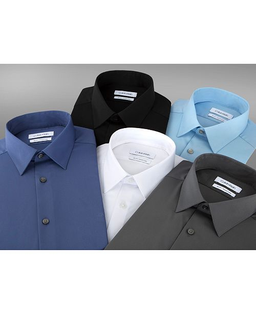0fa10c71e9f7 ... Calvin Klein Men's Slim-Fit Stretch Flex Collar Dress Shirt, Online  Exclusive Created for ...