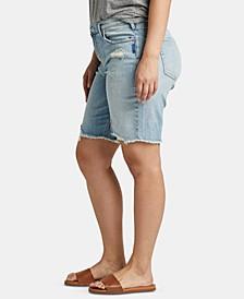Trendy Plus Size Frisco Denim Bermuda Shorts