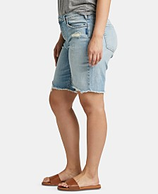 Silver Jeans Co. Trendy Plus Size Frisco Denim Bermuda Shorts
