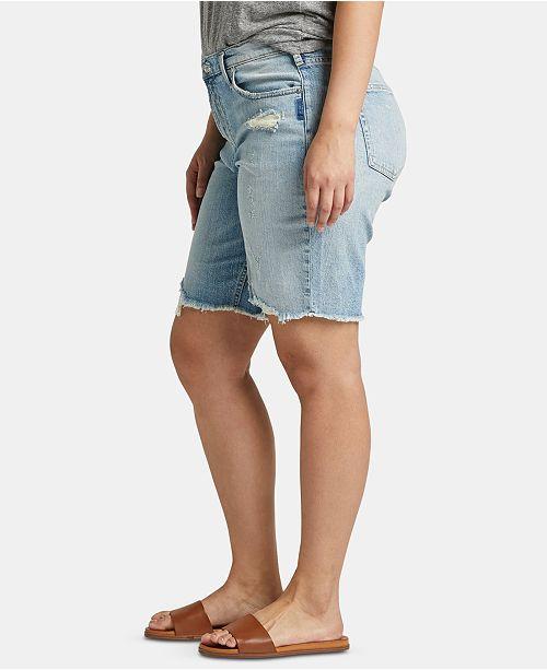 Silver Jeans Co. Trendy Plus Size Frisco Denim Bermuda Shorts
