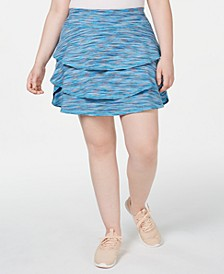 Plus Size Coastal Space-Dyed Tennis Skort, Created for Macy's