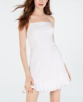 f3c1fa749350 City Studios Juniors' Tie-Back Textured A-Line Dress