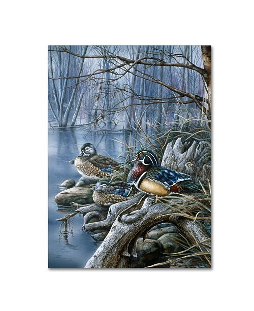 "Trademark Global Wanda Mumm 'Spring Woodies' Canvas Art - 32"" x 24"" x 2"""