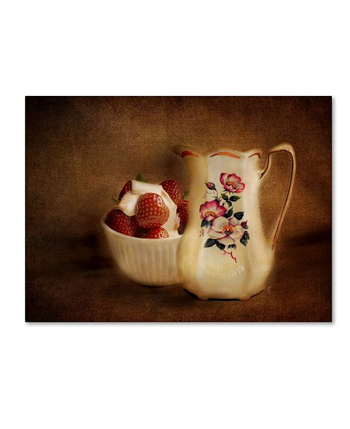 "Trademark Global Jai Johnson 'Strawberries And Cream' Canvas Art - 32"" x 24"" x 2"""
