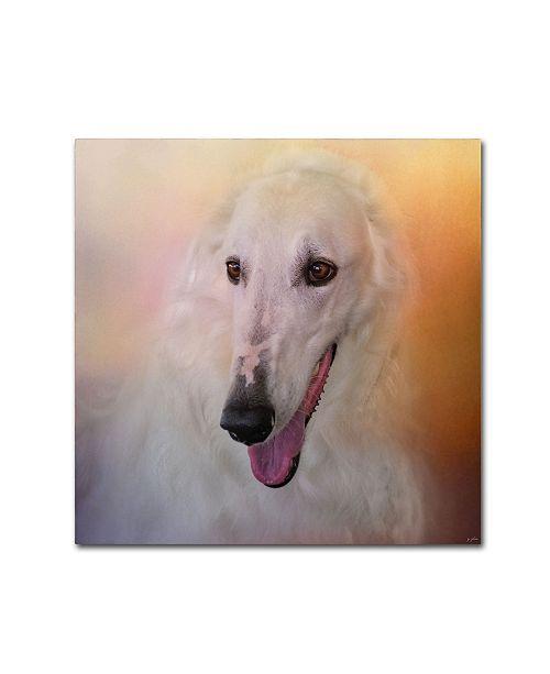 "Trademark Global Jai Johnson 'The Elegant Borzoi' Canvas Art - 18"" x 18"" x 2"""
