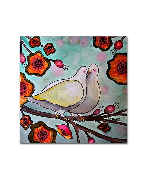 "Trademark Global Sylvie Demers 'Le Temps Des Cerises' Canvas Art - 14"" x 14"" x 2"""