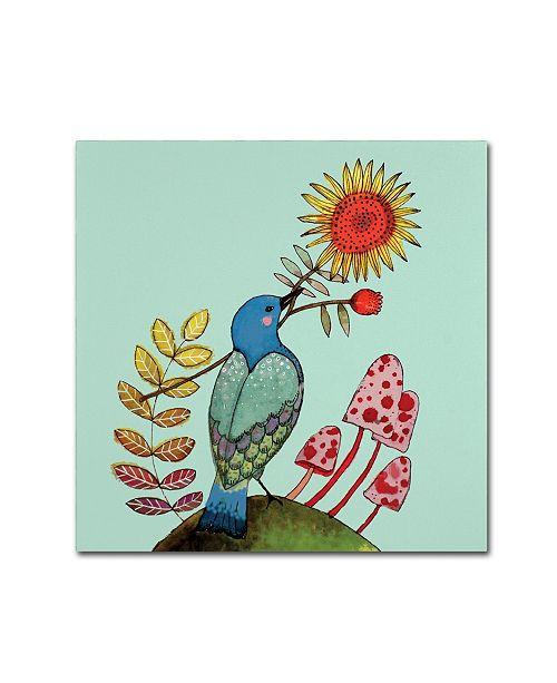 """Trademark Global Sylvie Demers 'Sunflower' Canvas Art - 35"""" x 35"""" x 2"""""""